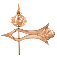 Polished Copper Extra Large 3-D Arrow Weathervane