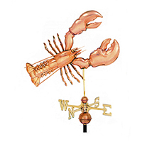 Polished Copper Lobster Weathervane