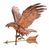 Polished Copper Jumbo Eagle Weathervane