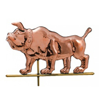 Polished Copper Bulldog Weathervane