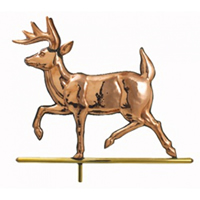 Polished Copper Deer Weathervane