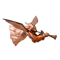 Polished Copper Hanging Angel