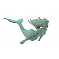 Antique Finish Copper 3-D Hanging Mermaid
