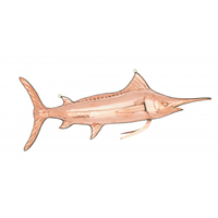 Polished Copper Hanging Swordfish