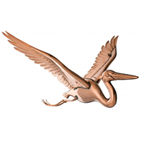 Polished Copper Hanging Heron