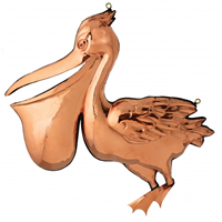 Polished Copper Hanging Pelican