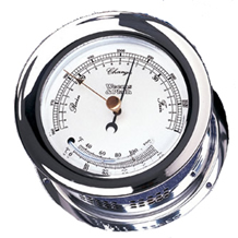 Weems & Plath Chrome Plated Atlantis Barometer/Thermometer