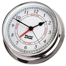Weems & Plath Chrome Endurance 125 Time & Tide Clock