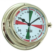 Brass Endurance II 135 Radio Room Quartz Clock w/ Military Time