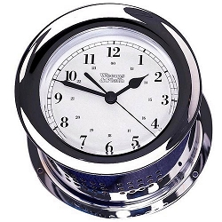 Weems & Plath Chrome Atlantis Quartz Clock