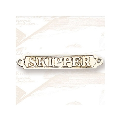 Brass Skipper Plaque