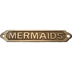 Brass Mermaids Plaque