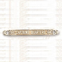 Brass Captain's Quarters Plaque