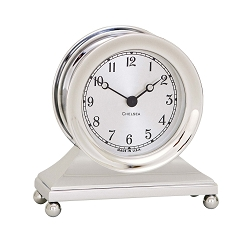 Chelsea Constitution Clock in Nickel