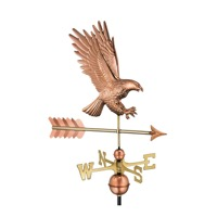 Pure Copper American Bald Eagle Weathervane