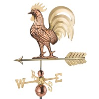 Pure Copper & Brass Proud Rooster Weathervane