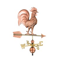 Pure Copper Proud Rooster Weathervane