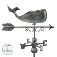 Pure Copper Save the Whales Weathervane