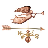 Pure Copper Angel with Arrow Weathervane