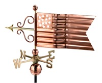 Pure Copper American Flag Weathervane