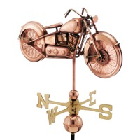 Pure Copper Motorcycle Weathervane