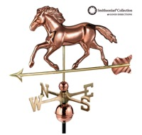 Pure Copper Smithsonian Running Horse Weathervane