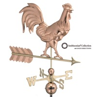 Pure Copper Smithsonian Rooster Weathervane