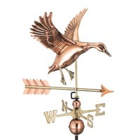 Pure Copper Landing Duck with Arrow Weathervane
