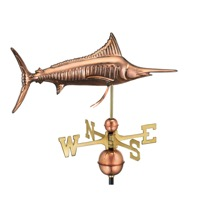 Pure Copper Marlin Weathervane
