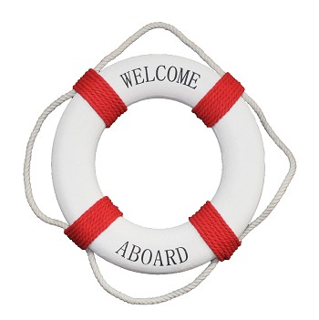 Red/White Welcome Aboard Life Ring