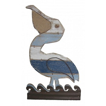 Distressed Pelican Wall Plaque