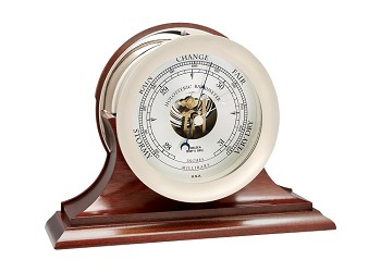 "6"" Chelsea Ship's Bell Barometer in Nickel on Traditional Base"