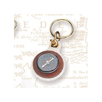 Set of Two Compass Keychains