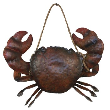 3D Metal Crab Sculpture