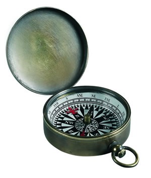 Small Bronzed Pocket Compass