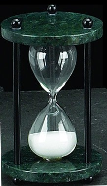 Green Marble 4 Minute Hourglass