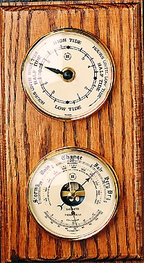 Tide Clock Barometer Thermometer