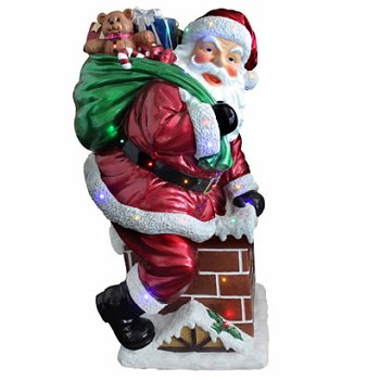 46 In. Santa on Chimney - Multi LED - Indoor Outdoor