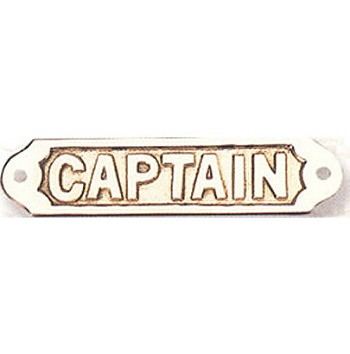 Brass Captain Plaque