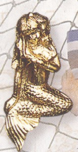 Brass Mermaid Door Knocker