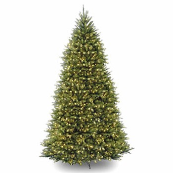 12 Ft. Dunhill Fir Hinged Christmas Tree with 1500 Clear Lights