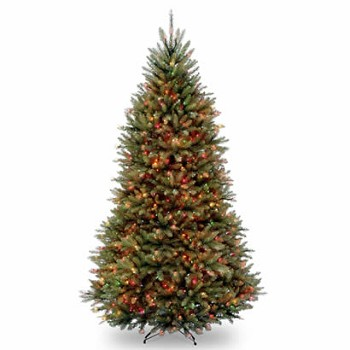 9 Ft. Dunhill Fir Hinged Christmas Tree with 900 Multi Lights