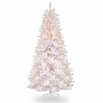 7 1/2 Ft. Slim Iridescent Fir Christmas Tree w/ 600 Clear Lights