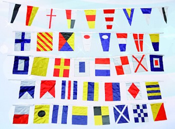 Set of 40 Nautical Signal Flags