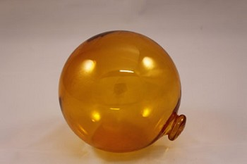 "5"" Yellow Glass Buoy Float"