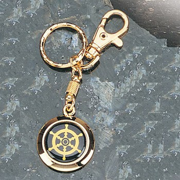 Set of Two Ship Wheel Keychains