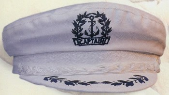 Large White Cotton Captain Hat