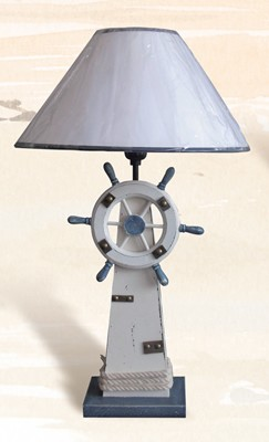 Lighthouse & Ship Wheel Table Lamp