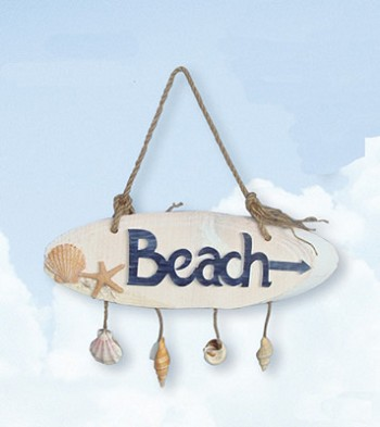 Beach Plaque w/ Seashells