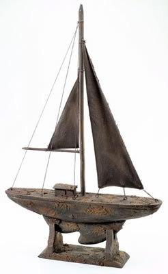 Antique Finish Sailboat
